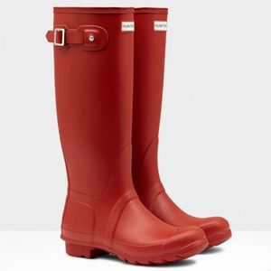 Hunter Tall Women's Rainboots in red